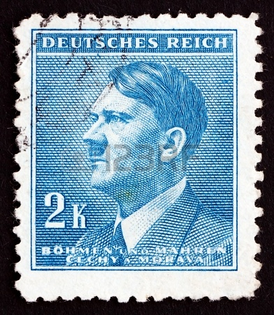 17808629-czechoslovakia--circa-1942-a-stamp-printed-in-the-czechoslovakia-shows-adolf-hitler-chancellor-of-ge